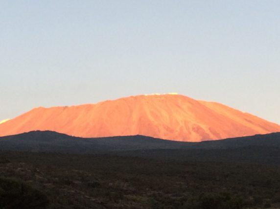 Running on Kilimanjaro