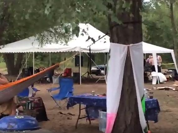 Campground when occupied