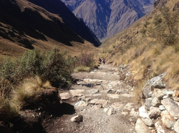 Section of the Inca Trail Marathon course